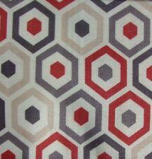 5 Meters Belgrave Geometric Pattern Curtain Fabric £16.5/Mtr - Terracotta