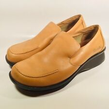 Simple Mens Tan Leather Slip On Loafers Dress Casual Comfort Shoes US 10