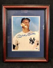 "Mickey Mantle PSA DNA Authenticated Autographed 8""x10"" Framed Photograph ~ LOA"