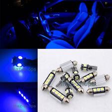 6PC Blue LED Light Interior Package Error Free kit 12V for Audi A4 S4 B6 B7