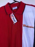 Nascar Chase Mens DALE EARNHARDT JR 8 Polo Budweiser Beer Racing shirt Large