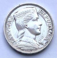 Lettland 5 Lati 1931 Silbermünze