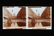 Paris Panthéon Stéréo Plaque de verre Vintage ca 1925