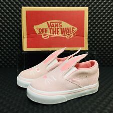 Vans Slip On Bunny Cha (Toddler Size 8 C) Athletic Casual Sneaker Shoe