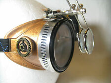 Pro Steampunk Safety Goggles Copper Antique Metal Gears Lab Welding Glasses 5X2