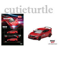 Mini GT 2017 Honda Civic Type R FK8 1:64 Time Attack Challenge Red MGT00024