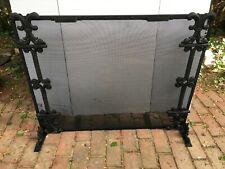 Victorian Cast Iron & Steel Framed Fireplace Screen c.1880