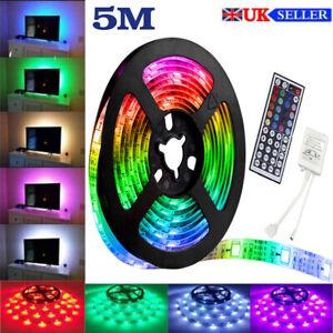 LED Strip Lights 5050 5M RGB Light Colour Changing Tape Cabinet TV