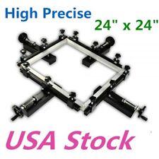 24 X 24 Manual Silk Screen Stretching Machine High Precise Screen Printing