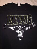 Danzig Misfits Vintage Tour T Shirt Size XL Original Rare Punk Thrasher Metal