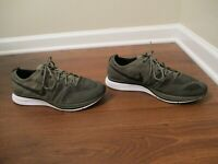 Used Worn Size 12 Nike Flyknit Trainer Shoes Olive Black White