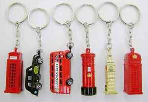 5 BRITISH MINIATURE LONDON KEY RING BRELOCK DIECAST METAL KEYCHAIN SOUVENIR GIFT