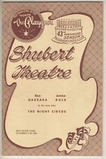 "Ben Gazzara & Janice Rule  ""The Night Circus""   TRYOUT  Playbill  1958   FLOP"