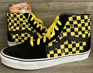 Vans x Where's Waldo Sk8-Hi Odlaw Checkerboard Black Yellow Size 11 Men's NWB