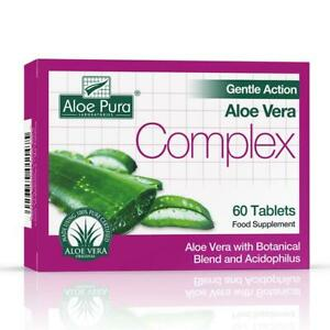 Aloe Pura Aloe Vera Gentle Action Complex Earlier Colon Cleanse 60 Tablets