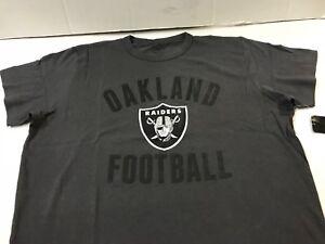 Oakland Raiders NFL  '47 Brand Men's Flanker Tee Charcoal Size Medium