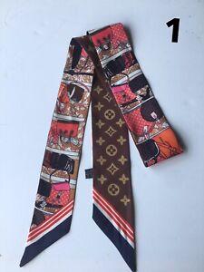 Skinny Silky Scarf, twilly scarf, Handbag , Neck, Wrist, Handbag Wrap.