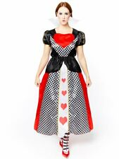 Adults Ladies Queen of Hearts Costume Fancy Dress Fairytale Wonderland Book Day