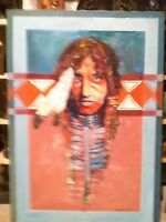 Native American Original Oil & Texture Painting by Bonawitz..