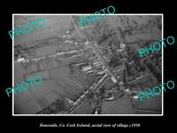 OLD LARGE HISTORIC PHOTO DONERAILE Co CORK IRELAND AERIAL VIEW OF VILLAGE c1950