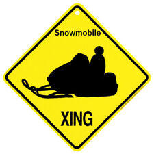 Snowmobile Crossing Sign: 'Snowmobile XING'. Sale Priced AND Free Shipping