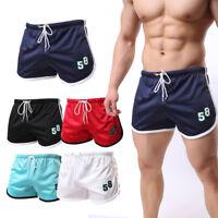 Mens Mesh Shorts Workout Boxers Sports Gym Running Jogging Trunks Beach Swimwear