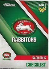 2017 NRL Traders Base Card (111) RABBITOHS Check List