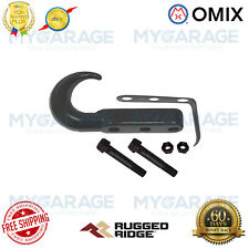 Omix-ADA For 46-06 Jeep CJ  /Wrangler YJ / TJ Tow Hook Front Black - 11236.02