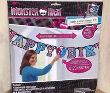 Monster High Birthday Supplies Lot Invitations Balloons Confetti Bags