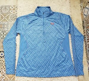 UNDER ARMOUR HeatGear ISO-CHILL Womens SIZE 2XL Fitted Blue Long Sleeve Shirt
