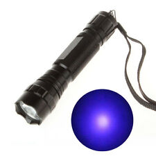 3W UV Cree LED Flashlight WF-501b Ultraviolet Lamp 365nm Purple Light Alloy