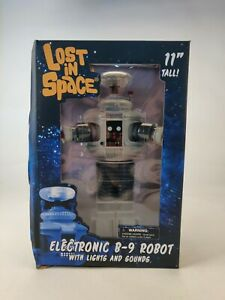 """Diamond Select Toys LOST IN SPACE B-9 10"""" Electronic Robot Figure TZWD"""