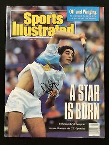 Pete Sampras Signed Sports Illustrated 9/17/90 No Label Tennis US Open Auto JSA