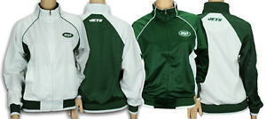G-III Sports NFL Women's New York Jets Players Zip Up Jacket, White Or Green