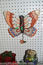 "MICHELLE Allen Designs WHIMSICAL BUTTERFLY CLOCK "" FREE FLY,"" FREE SHIP"