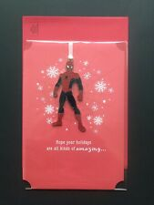 Hallmark SpiderMan Christmas Card with Hangable Ornament (NEW)