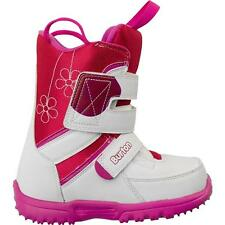 Burton Grom White/Pink Size 6 Youth US Girl's Snowboard Boots, New in Box