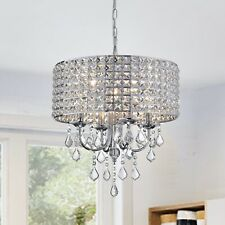 Aenna Crystal 4-light Drum Chandelier