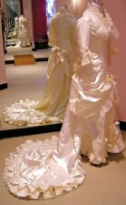 Hand Made Victorian Style Wedding Dress, Size 6, NEW with Exquisite Details