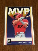 2019 Panini Donruss Optic Baseball MVP - Mike Trout - Los Angeles Angels