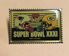 NFL Super Bowl 31 New England Patriots Vs Green Bay Packers Pin