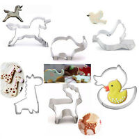 Christmas Stainless Steel Cookie Biscuit Cutters Bread Fondant Cake Mold Baking