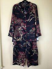 NWT Natori $180 black Pagoda asian design Pajama Set XL GORGEOUS