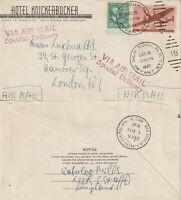 US 1947 COMMERCIAL SPECIAL DELIVERY FLOWN COVER NEW YORK TO LONDON ENGLAND