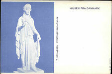 Hilsen Fra DANMARK Litho-AK um 1900 Thorvaldsen Kunst Fyrstinde Bariatinska