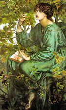 Old Masters reprint (v1f60) The Daydream 1880 by Dante Gabriel Rossetti