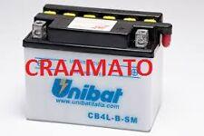 BATTERIA MOTO SCOOTER UNIBAT CB4L-B-SM PEUGEOT Ciclomotore(E-Starter) 125 01-