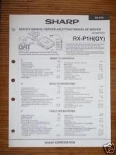 Service-Manual-Instructions pour Sharp RX-P1H Numérique ,ORIGINAL