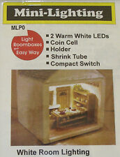 Micro Mini LED Lighting - Warm White, Coin Battery Operated Dollhouse Miniatures