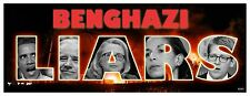 ANTI OBAMA - BENGHAZI LIARS - LIBYA CONSULATE POLITICAL BUMPER STICKER #4240